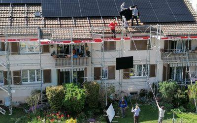 Teamwork auf den Dächern der Weberstrasse